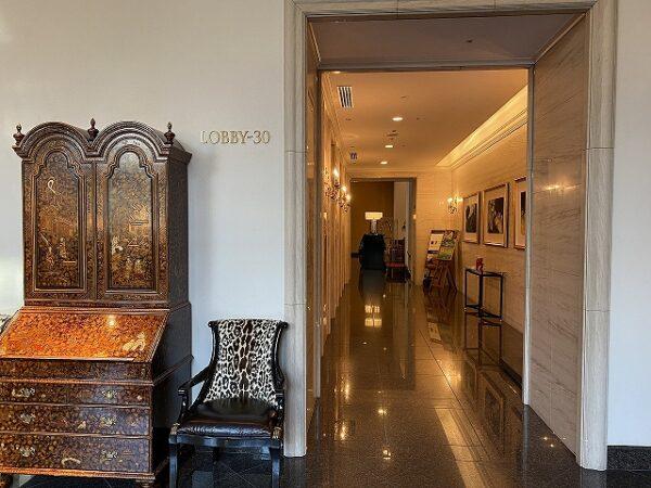 客室用エレベーターホール